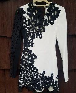 Stunning David Koma Black & White Dress
